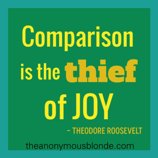 Pinterest Therapy Session - Comparison is the Thief of Joy