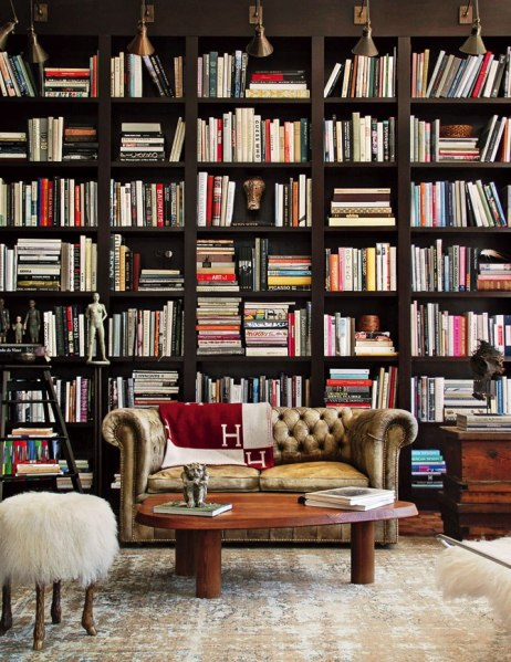 From the January 2013 issue of Architectural Digest....The home library of Ellen DeGeneres & Portia de Rossi Photo courtesy of Kathleen Clements Design