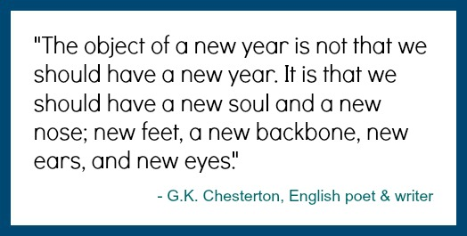 G.K. Chesterton New Year's quote