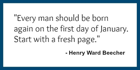 Henry Ward Beecher Quote - Start with a fresh page.