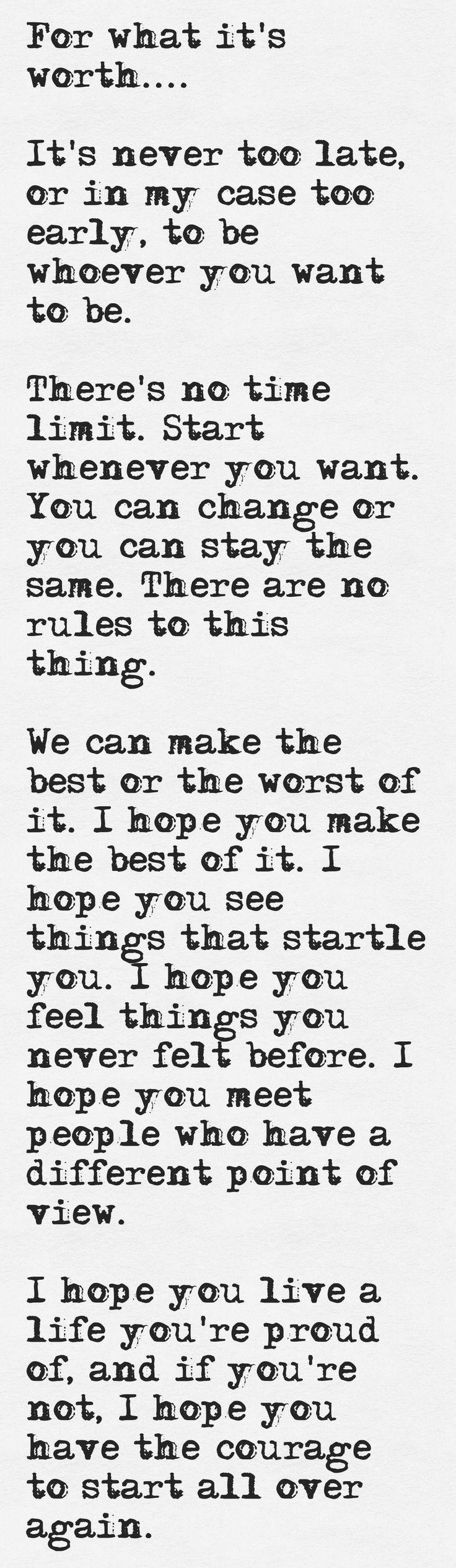 I hope you live a life you re  F Scott Fitzgerald Quotes I Hope You Live A Life