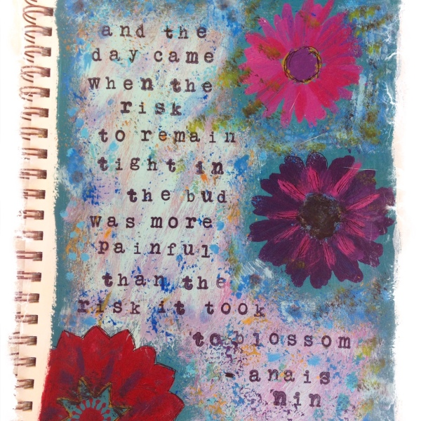 Art Journal -Anais Nin Quote