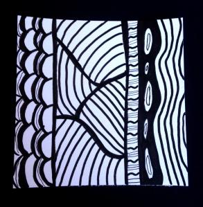 Black &  White Doodle